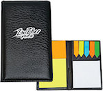 Leather Look Padfolio With Sticky Notes